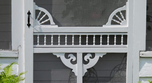 Detail of a screen door on a 19th century house in Pentwater, MI. Photo by BF Newhall