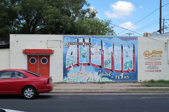 The funky charms of east austin texas for Austin mural wall