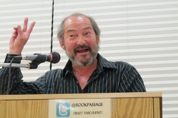 Bearded author, editor and cofounder of Salon.com Gary Kamiya reads from his new book at Book Passage. Photo by BF Newhall