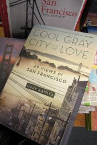 "The book jacket of ""Cool Gray City of Love"" by author and editor Gary Kamiiya shows a San Francisco street scene. bf newhall"