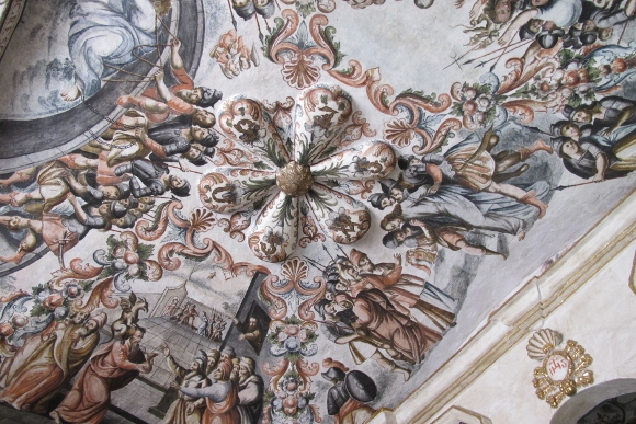 Detail of ceiling paintings at Sanctuario de Atotonilco, Mexico. Photo by BF Newhall
