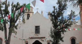 facade of santuario de atotonilco, mexico. photo by bf newhall