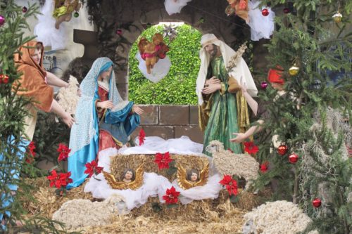Christmas manger scene at Jardin in San Miguel de Allende, Mexico. Photo by BF Newhall