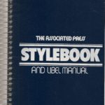The blue and white cover the 1992 Associated Press Stylebook and Libel Manual.