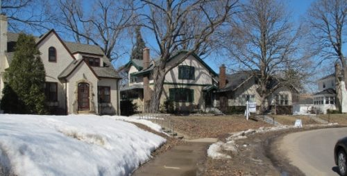 A traditional house in an snowy, tree lined neighborhood in southwest Minneapolis offered by Edina Realty. Photo by BF Newhall