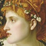 Perdita by Frederick Sandys is on the cover of Patricia Monaghan's Encyclopedia of Goddesses and Heroines, 2014.