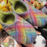 wool children's slippers from nepal $5 from a closed Nepal store that has closed in San Francisco's North Beach. Photo by BF Newhall