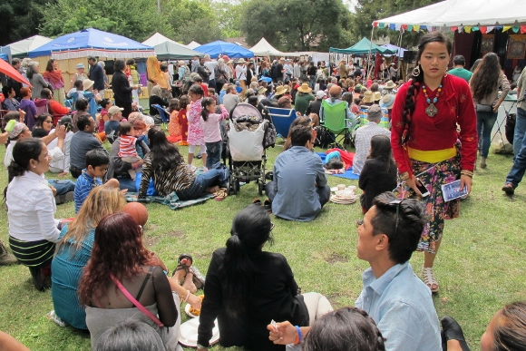 Hundreds of people at the Himalayan Fair 2014 gathered for music, dance, food and handmade crafts. Photo by BF Newhall