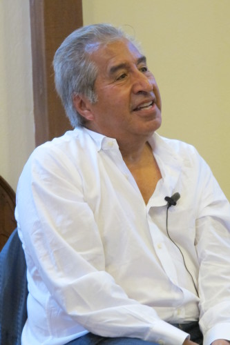 Author Richard Rodriguez spoke at Faith Presbyterian Church, Oakland, CA. Photo by Barbara Newhall