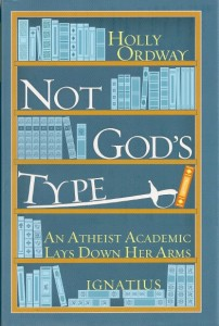 "Green-gray dust jacket of Holly Ordway's book ""Not God's Type"""