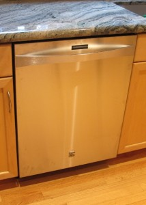 a 2014 Kenmore Elite dishwasher with stainless steel face and hidden controls. Photo by Barbara Newhall