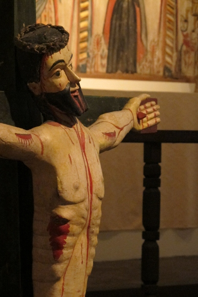 Christ on the cross at the New Mexico History Museum. Photo by Barbara Newhall