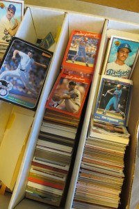 A boy's 1980s collection of baseball cards. Photo by Barbara Newhall