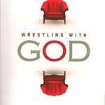 "The cover of Barbara Falconer Newhall's 2015 interfaith religion book ""Wrestling with God: Stories of Doubt and Faith"" shows two red chairs opposing one another. Design by Michelle Lenger."