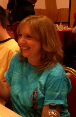Cindy Newhall Weyant National Open chess tournament, Las Vegas, June 2010. With Newhall family. Photo by Barbara Newhall