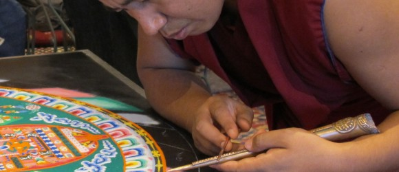 What Happens When You Drop Your Cell Phone Into the Sacred Buddhist Sand Painting?