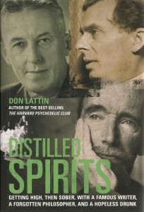 "The cover of Don Lattin's book, ""Distilled Spirits."""