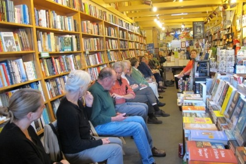 "Author event at A Great Good Place for Books for Barbara Falconer Newhall's ""Wrestlng with God"" book, May 13, 2015. k, Barbara is a member of Women's National Book Association Jon Newhall foto"