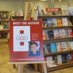 "A poster for Barbara Falconer Newhall's author event at Orinda Books, May 16, 2015, for her book ""Wrestling with God."" Photo by Jon Newhall"