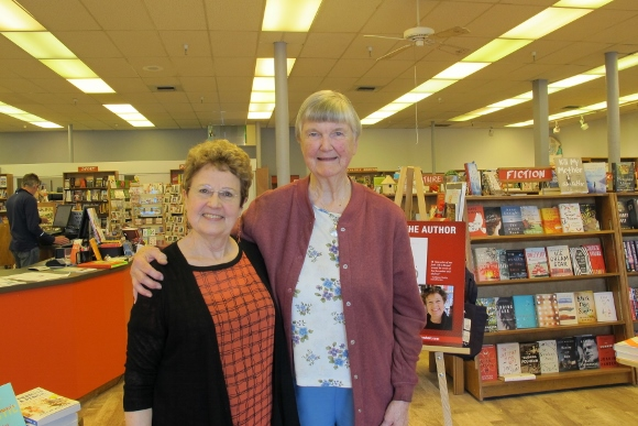Author Barbara Falconer Newhall and interviewee Sister Barbara Hazzard gave a book talk at Orinda Books in Orinda, California, May 16, 2015. Photo by Jon Newhall