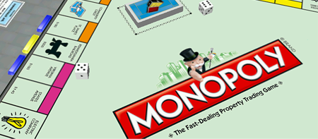 Monopoly game board. Old testament God.