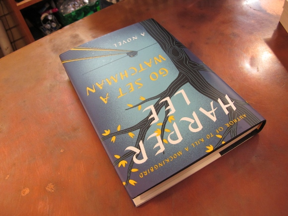 "My copy of ""Go Set a Watchman"" on the counter of my local bookstore. Atticus Finch  story. Photo by Barbara Newhall"