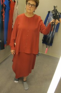 red eileen fisher dress with shirt. . looking for a dress for niece's wedding. nordstrom. Eileen Fisher $248 for the shirt and $378 for the dress