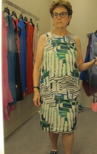 looking for a dress for niece's wedding. white, blue and gree print at nordstrom. $268. Photo by Barbara Newhall
