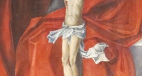 Painting of the crucifixion of Jesus, Matthias Church, Budapest. Photo by Barbara Newhall