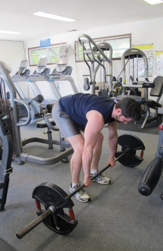 weight lifting. My son Peter Newhall dead lifts 135 pounds at the gym. Photo by Barbara Newhall