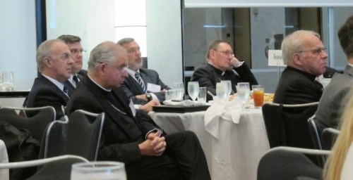 A score of Catholic clergy were present at the annual conference of the Religion Newswriters Association in Philadelphia, August, 2015. Photo by Barbara Newhall
