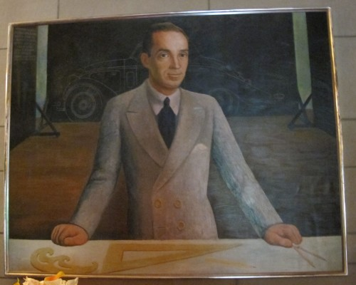 A painting of Edsel Ford by Diego Rivera hangs in the Edsel Ford house in Grosse Pointe, now open to the public.. It's a beauty. Photo by Barbara Newhall