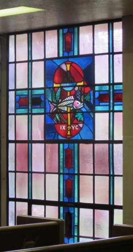 A stained glass window in the chapel of the First Presbyterian Church of Birmingham, Michigan. Photo by Barbara Newhall