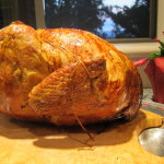A Thanksgiving turkey, roasted brown and ready to carve. Photo by Barbara Newhall