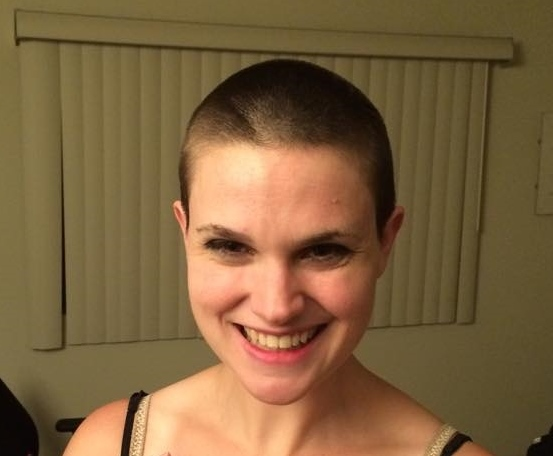 A pretty girl, Christina Newhall, has shaved off all her hair and is still pretty. Photo by Tim Beedle