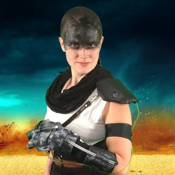 "For Halloween 2015, Los Angelena Christina Newhall dressed as the warrior imperator Furiosa in ""Mad Max."" Luke Schlink photo."