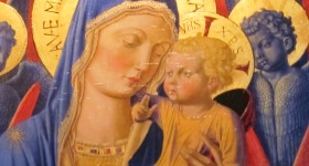 Copy of a painting of Madonna and Child by Benozzo Gozzoli, 1420-1497. Photo by Barbara Falconer Newhall