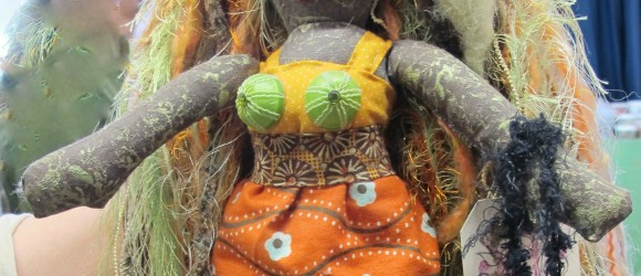 Holiday Gifts: Fun, Funky Fiber Art — Woolly Scarves, and Down and Dirty Angels