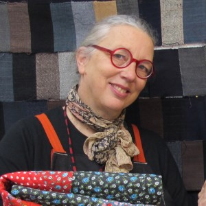 Sue Mary Fox in her Berkeley, California, quilting studio. Barbara Newhall photo