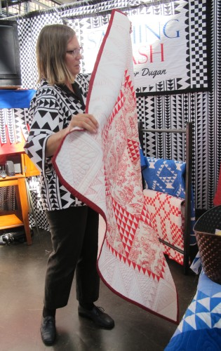 "vENDOR SASHING STASH showed fabric at East Bay Heritgage Quilters show ""Voices in Cloth 2016"" in richmond, CA Eleanor Dugan is the proprietor. Photo by Barbara Newhall"
