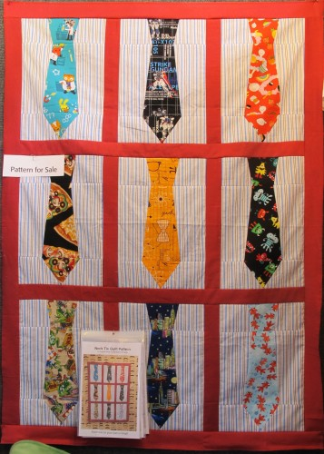 "A pattern for a quilt featuring neckties, by SONDRA VON BURG, was offered forsale at the East Bay Heritage Quilters show ""Voices in Cloth 2016"" in Richmond, CA Photo by Barbara Newhall"