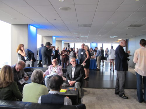 Authors from all over the world gathered to collect their Independent Publishers Book Awards for books published in 2015, at the Skydeck of Chicago's Willis Tower. Photo by Barbara Newhall