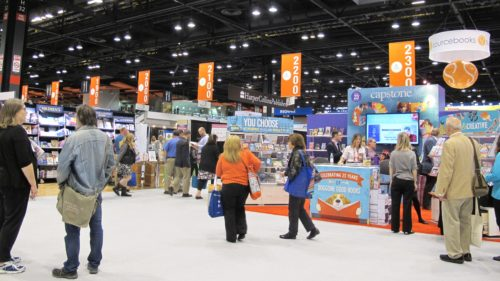 The exhibit hall of BookExpo America 2016 at McCormick Place, Chicago, Illinois. Photo by Barbara Newhall