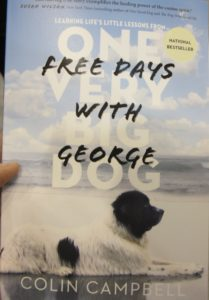 Free Days with George book cover displayed at BookExpo America 2016. Photo by Barbara Newhall