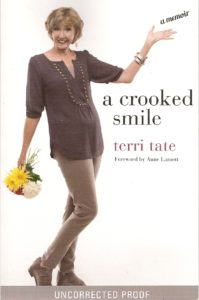 cover of A Crooked Smile book by Terri Tate. At BookExpo America 2016.