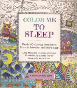 cover of Lacy Mucklow's adult coloring book, Color Me to Sleep. At BookExpo 2016