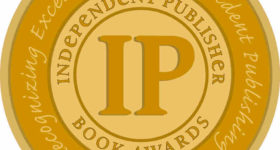 An IPPY gold medal, awarded to winners of the Independent Publishers Book Awards.