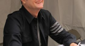 "TThe Bay Area Book Festival Berkeley, California. Rob Bell signed copies of his ""How to Be Here."" and talked about ""shall I write another book?"" Photo by Barbara Newhall"