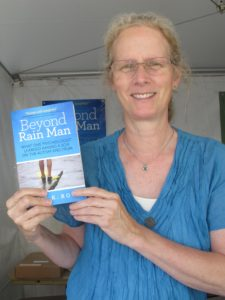 "The Bay Area Book Festival was held June 4 & 5, 2016 in the streets and indoor venues of downtown Berkeley, California. Literary Lane. Anne K. Ross and her book about autism, ""Beyond Rain Man."""