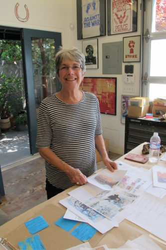 Ceramicist Nancy Selvin in her Berkeley, CA, studio. Photo by Barbara Newhall